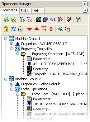 Mastercam Toolpath Manager right-click menu – Cad cam