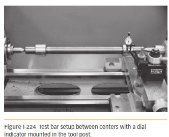 USE OF A TEST BAR AND MACHINING 224