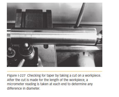 USE OF A TEST BAR AND MACHINING 227