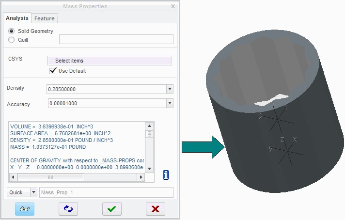 Analyzing Mass Properties – Cad cam Engineering WorldWide