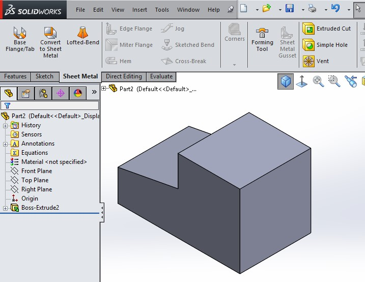 Solidworks Tips Create Sheet Metal Details From The