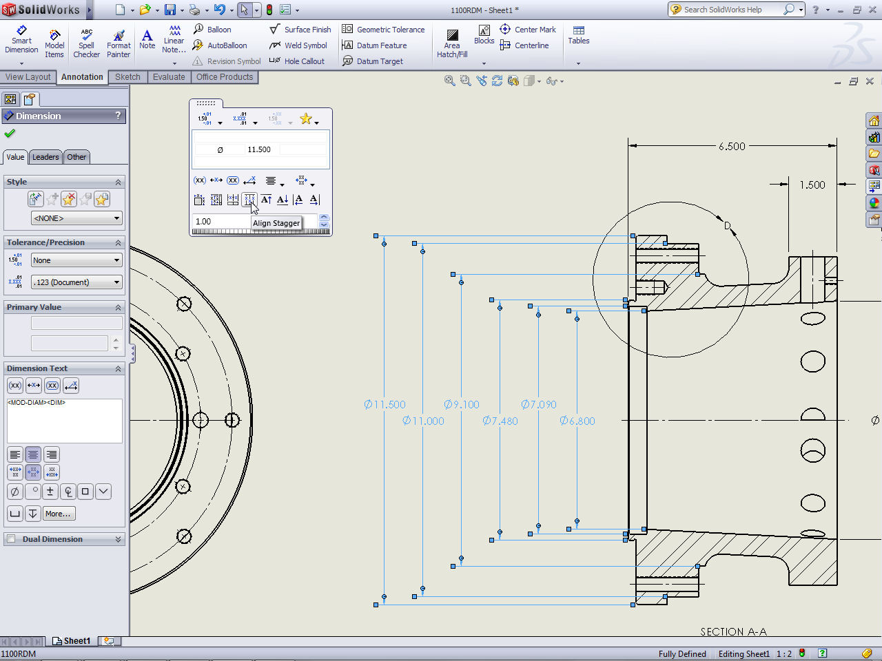 Solidworks 2015 Tutorial Dimension Fully Defined Cad